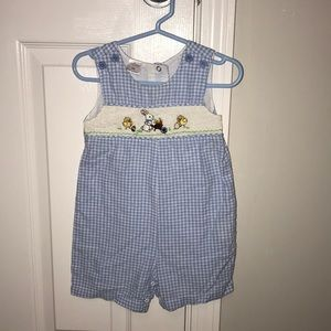 Smocked Easter Shortalls